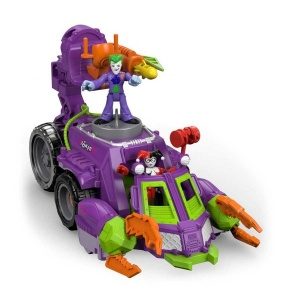 Imaginext DC Super Friends Joker ve Harley Savaş Aracı DWV56