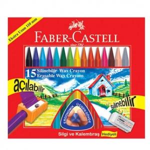 Faber Castell Silinebilir Wax Crayon Mum Boya 15 Renk