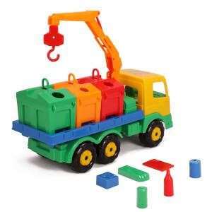 Renkli Taşıyıcılı Geri Dönüşüm Aracı