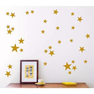 BugyBagy Gold Duvar Sticker Yıldız Yağmuru 100 Adet