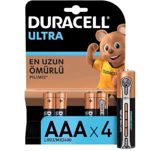 Duracell Turbo Max İnce Kalem Pil AAA 4'lü