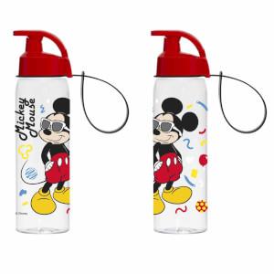 Gözlüklü Mickey Mouse Desenli Matara 500 ml.
