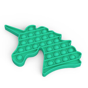 Push Pop Bubble Pop It Duyusal Oyuncak Özel Pop Unicorn Yeşil