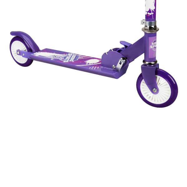 2 Tekerlekli Katlanabilir Mor Scooter