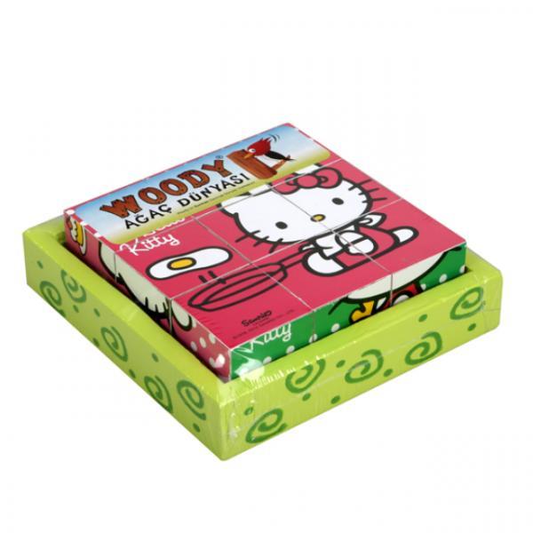 Hello Kitty Ahşap Küp Puzzle