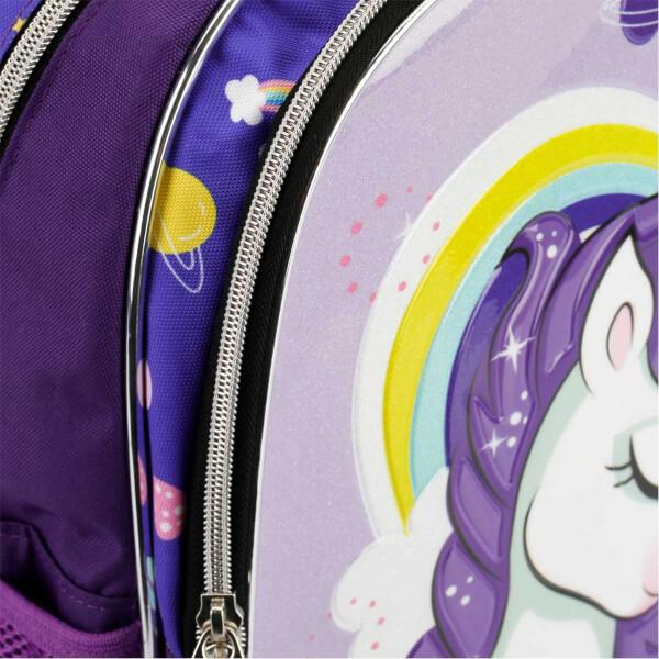 Unicorn Desenli Okul Çantası 9024