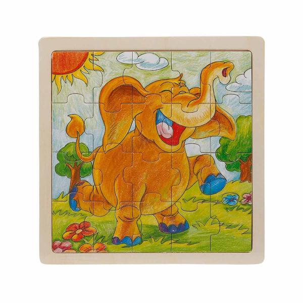 Woody Hayvanlar Ahşap Puzzle 20 Parça