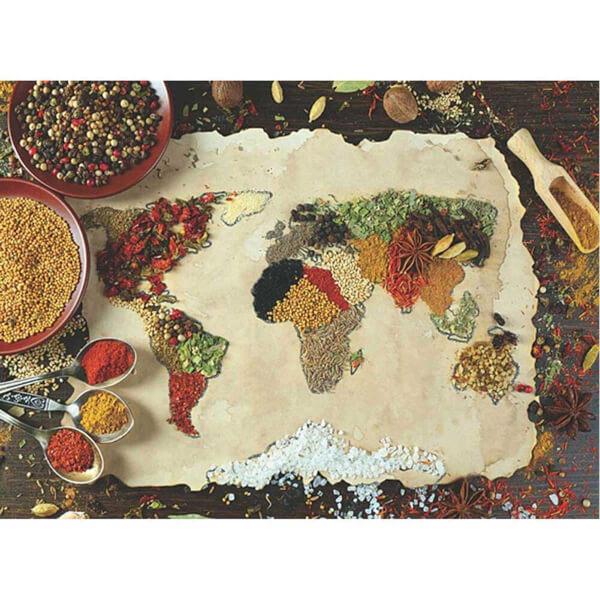 1000 Parça Puzzle : Baharatlı Dünya Haritası