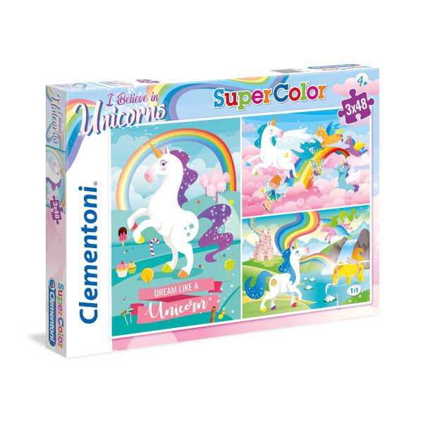 3x48 Parça Puzzle : Unicorn