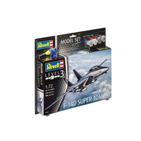 Revell 1:72 F-14D Model Set Uçak 63960