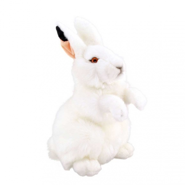Beyaz Tavşan Peluş 28 cm.