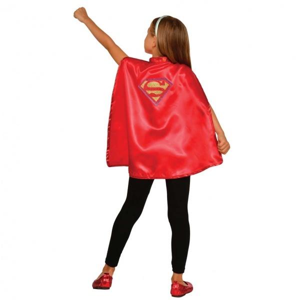 Supergirl Pelerin Kostüm Standart Beden