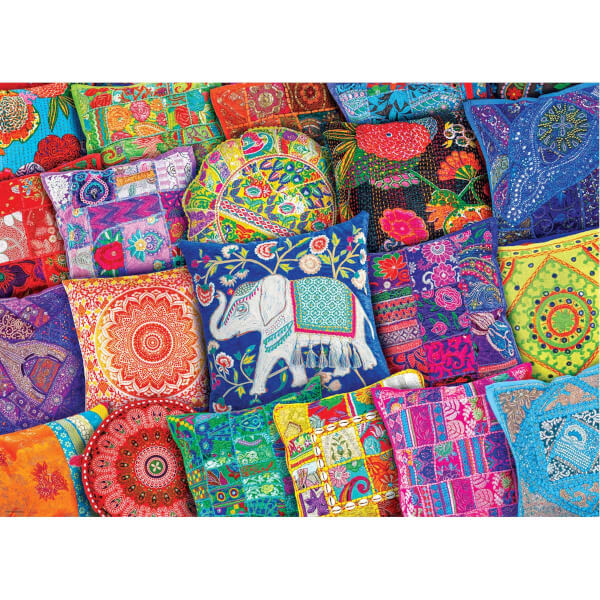 1000 Parça Puzzle : Indian Pillows