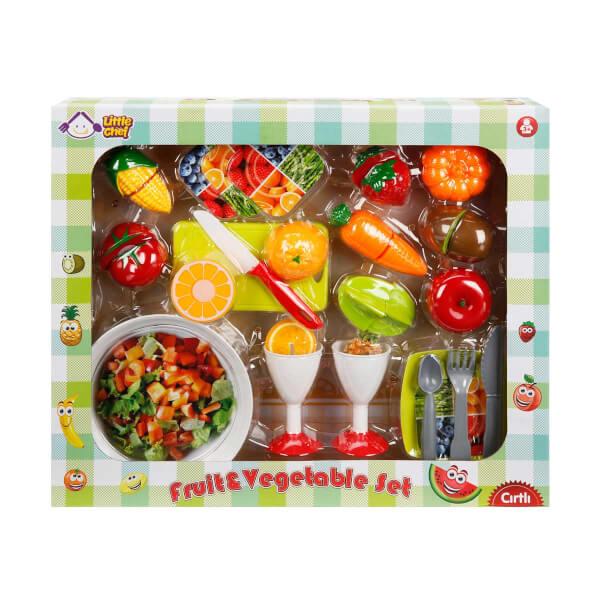Kesme Tahtalı Meyve ve Sebze Oyun Seti