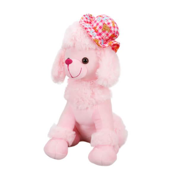 Şapkalı Oturan Fino Peluş Köpek 40 cm.