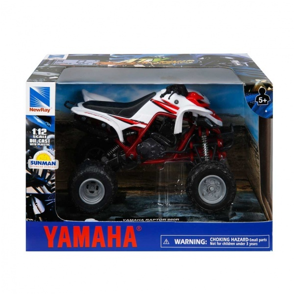 1:12 Yamaha Raptor 660 R 2005 Atv Model Motor