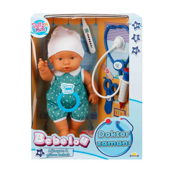 Bebelou Doktor Zamanı Sesli Bebek Seti 35 cm.