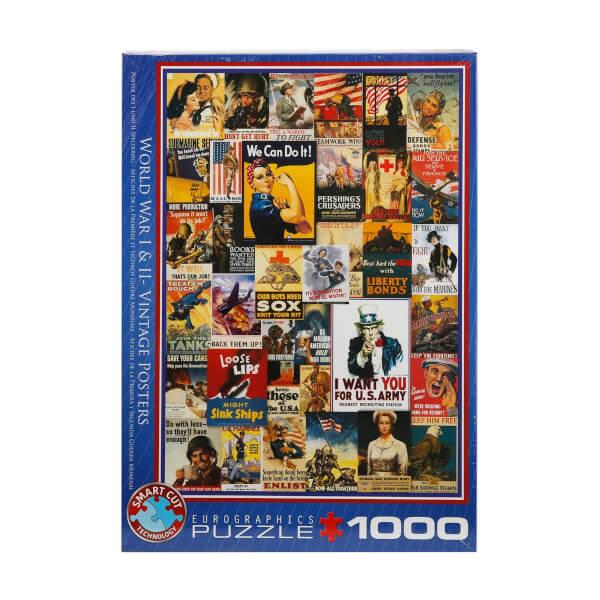 1000 Parça Puzzle : 1. ve 2. Dünya Savaşı Vintage Posterler