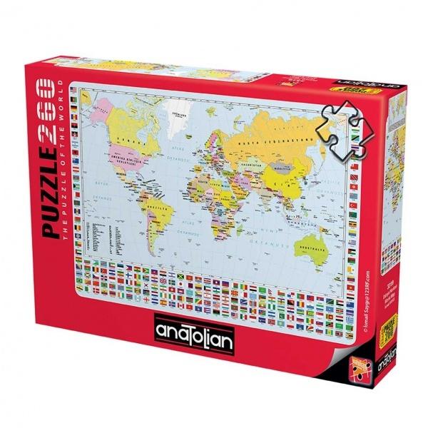260 Parça Puzzle : Dünya Haritası