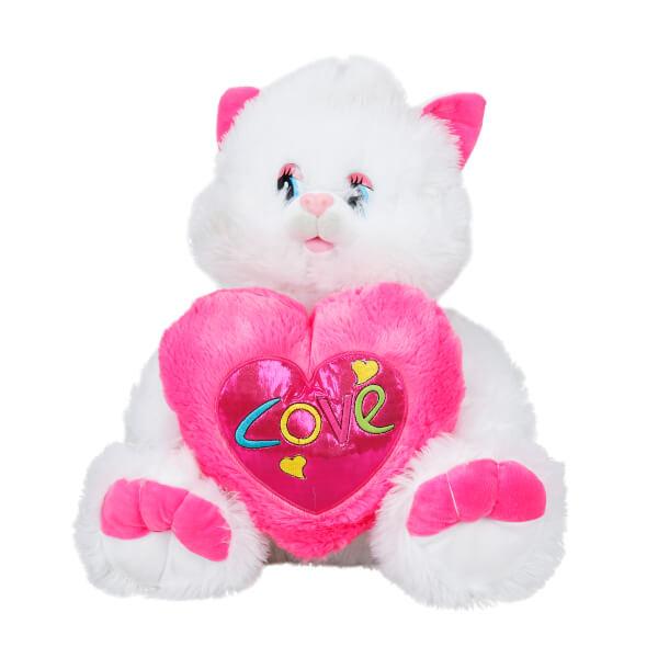 Kalpli Oturan Peluş Kedi 50 cm.