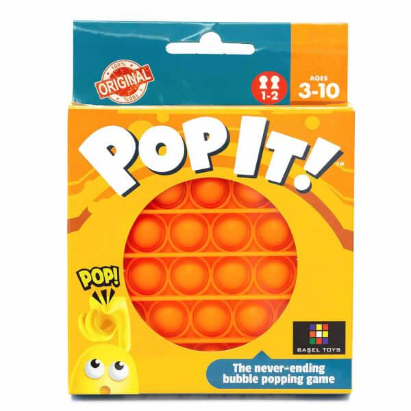 Push Pop Bubble Pop It Duyusal Oyuncak Özel Pop Stres Yuvarlak Turuncu 0635