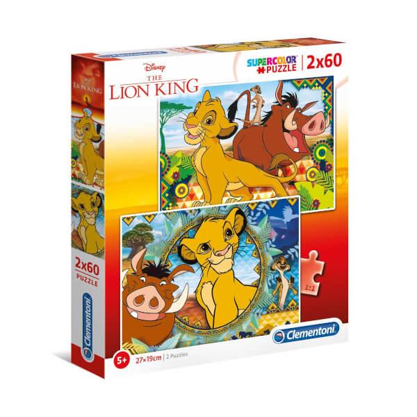 2 x 60 Parça Puzzle : The Lion King