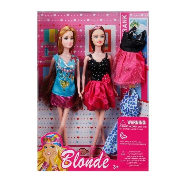 Blonde Yedek Elbiseli 2'li Bebek Oyun Seti