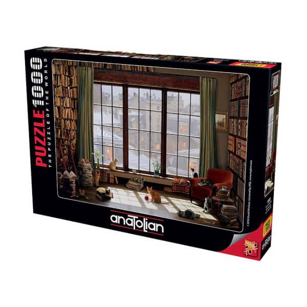 1000 Parça Puzzle : Pencere Kedileri