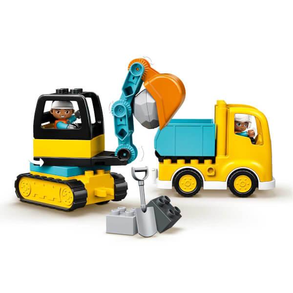 LEGO® DUPLO Town Kamyon ve Paletli Kazıcı 10931