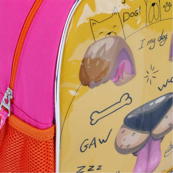 Köpek Desenli Anaokul Çantası 9026