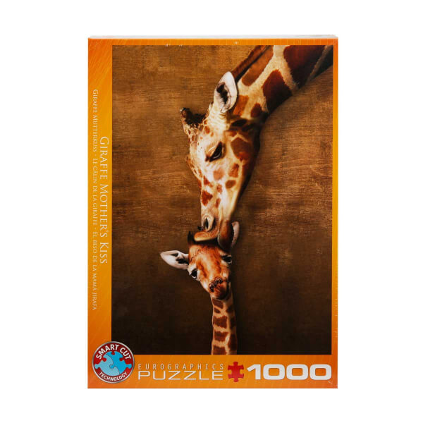 1000 Parça Puzzle : Giraffe Mother's Kiss