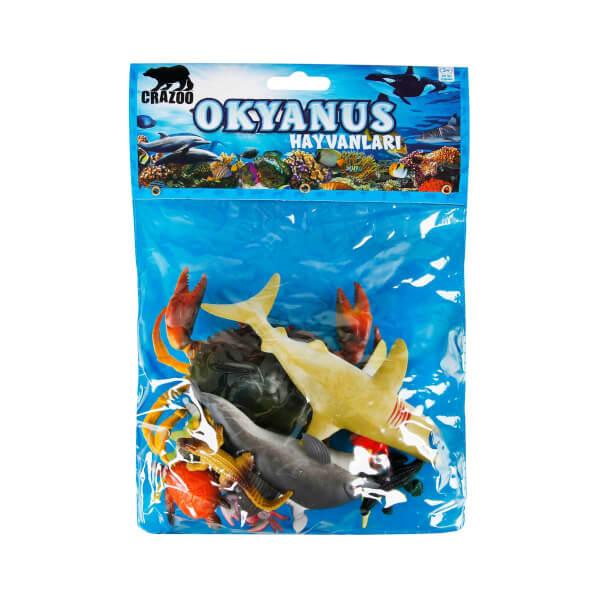 Okyanus Hayvanları Poşetli Hayvan Oyun Seti Orta Boy