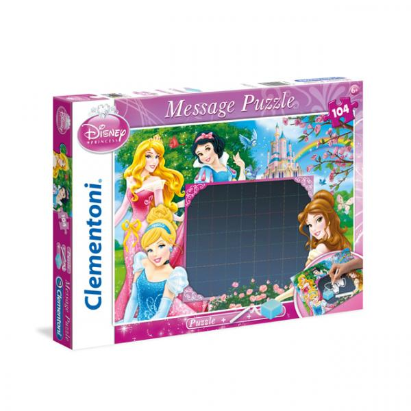 104 Parça Puzzle : Disney Princess Message