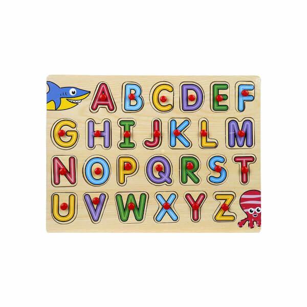Woody Alfabe Ahşap Tutmalı Puzzle 26 Parça
