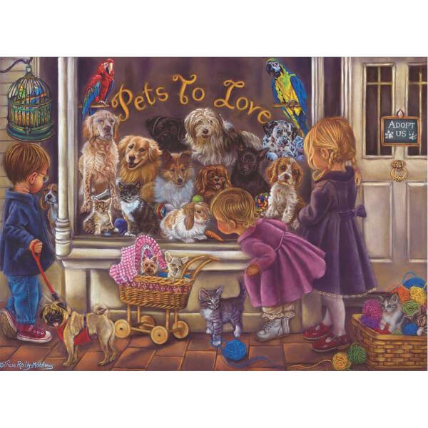 1000 Parça Puzzle : Hayvan Sevgisi