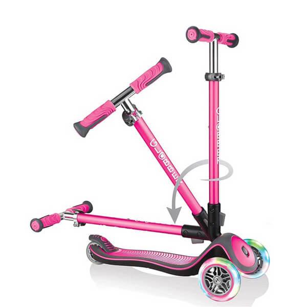 Elite Lights 3 Tekerlekli Pembe Scooter