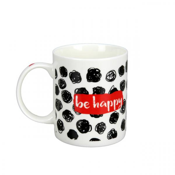 Be Happy Be Amazing Porselen Kupa