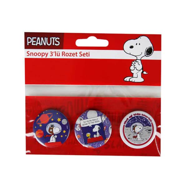 Snoopy 3'lü Rozet Seti