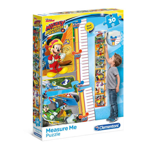 30 Parça Puzzle : Mickey and The Roads My Meter