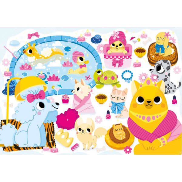 104 Parça Jewels Puzzle : Puppies Beauty Spa