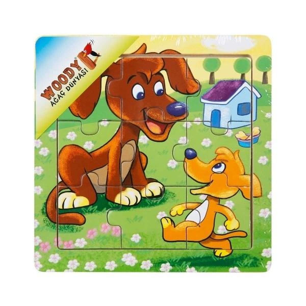 Woody Mini Hayvanlar Ahşap Puzzle 3 Parça