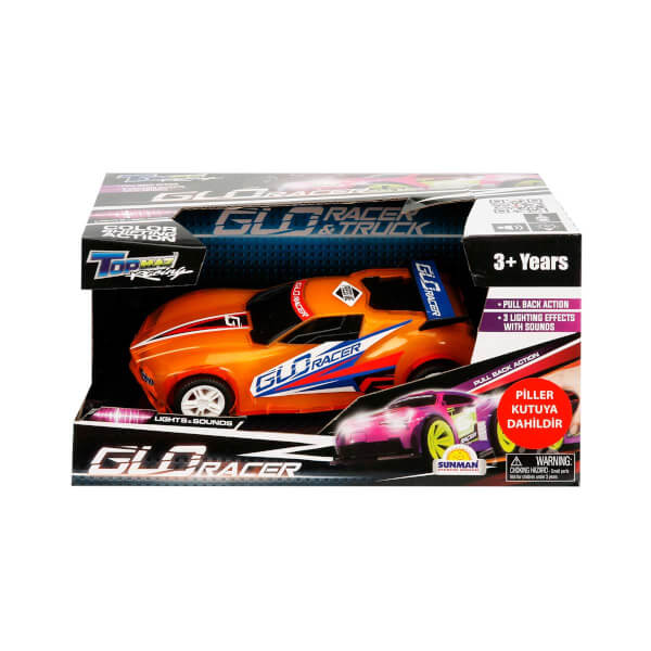 Sesli ve Işıklı Glo Racer Çek Bırak Araba 18 cm.