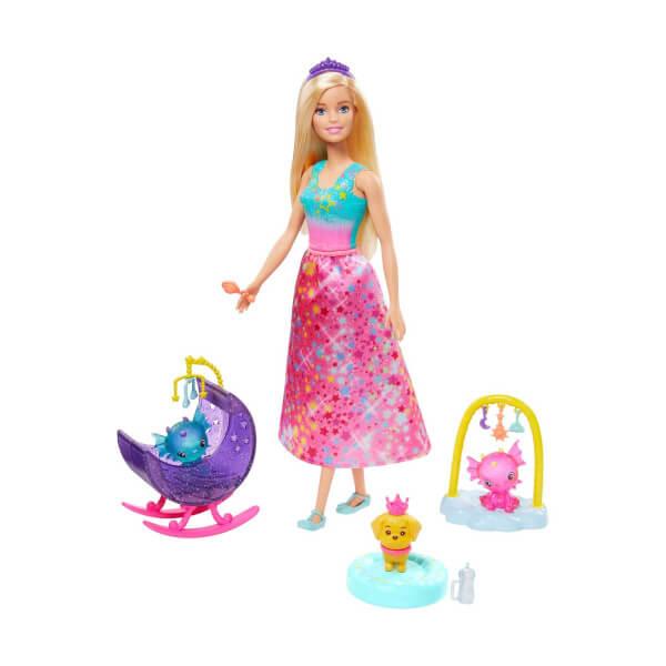 Barbie Dreamtopia Prenses Bebek ve Aksesuarları Oyun Seti GJK49