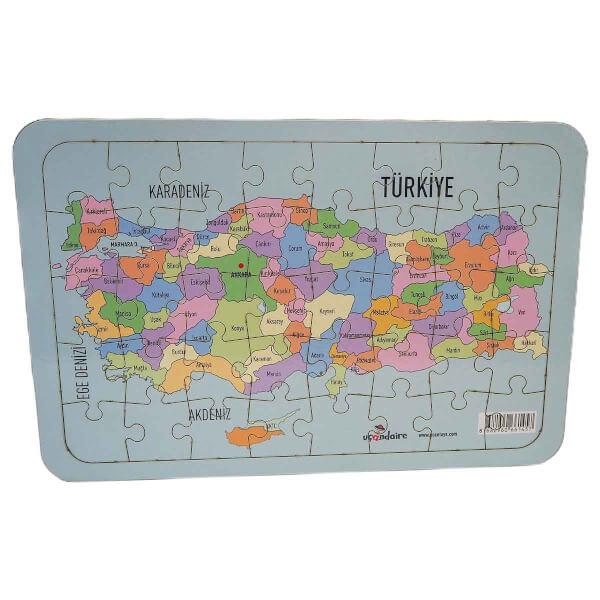 Türkiye Haritası Büyük Ahşap Puzzle