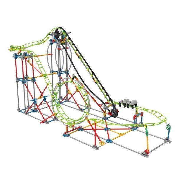 Knex Double Doom Roller Coaster Motorlu Yapım Seti 55402