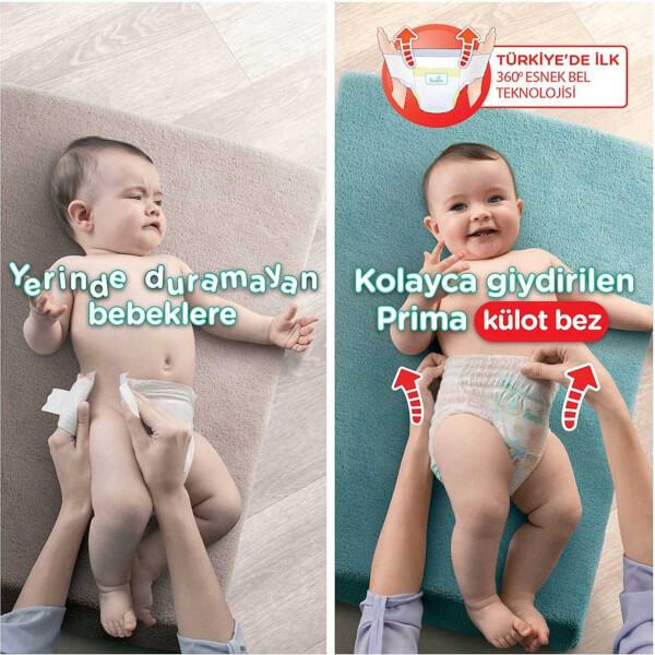Prima 56'lı Külot Bebek Bezi Junior 5 Beden 12-17 Kg Fırsat Paketi
