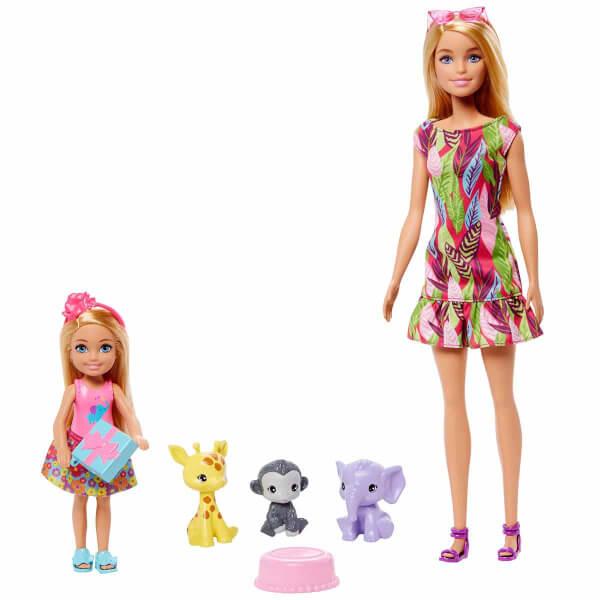 Barbie ve Chelsea Kayıp Doğum Günü Oyun Seti GTM82