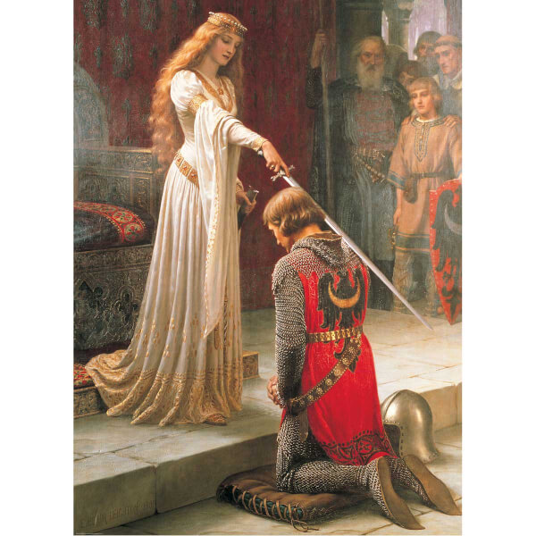 1000 Parça Puzzle : The Accolade - Edmund Blair Leighton