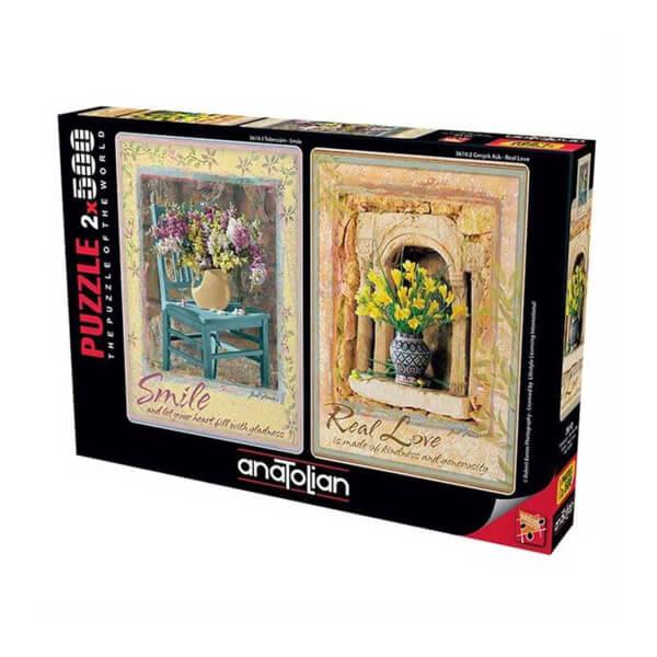2 x 500 Parça Puzzle : Tebessüm Gerçek Aşk