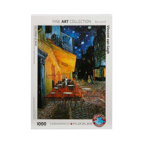 1000 Parça Puzzle : Cafe Terrace At Night - Vincent Van Gogh